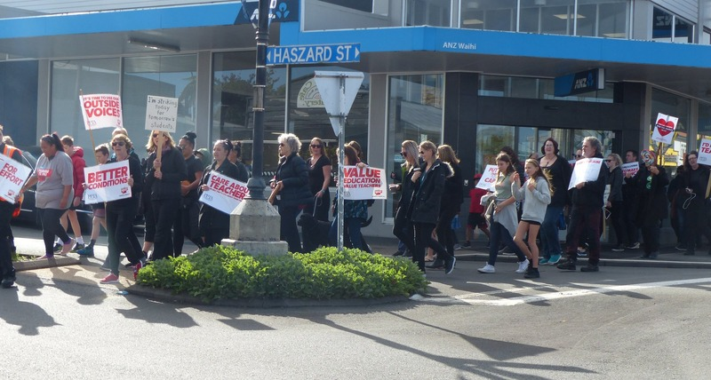 Waihi teachers join MegaStrike