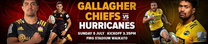 Five changes to the Gallagher Chiefs side to face the Hurricanes in Hamilton