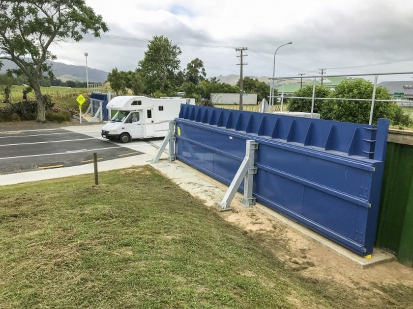 Regional council to show off how Paeroa's new floodgates on SH26 operate