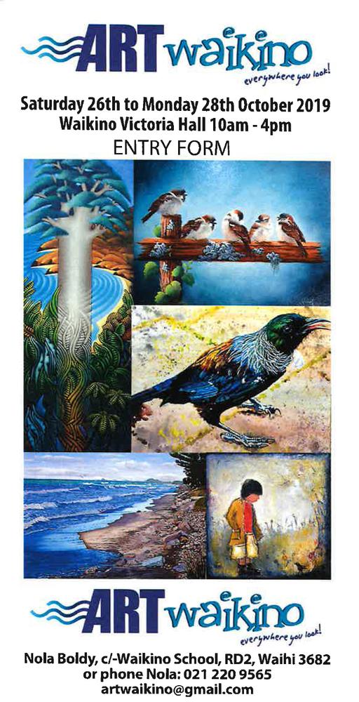 Entries open for Art Waikino