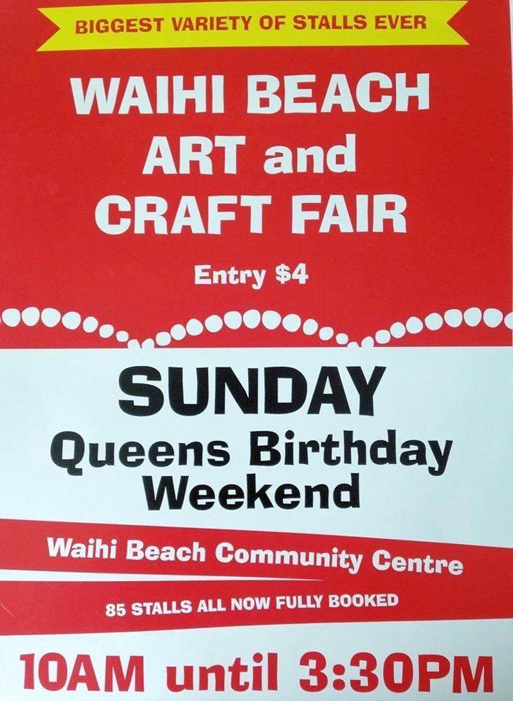 Arty Crafty Fair on at Waihi Beach this Sunday