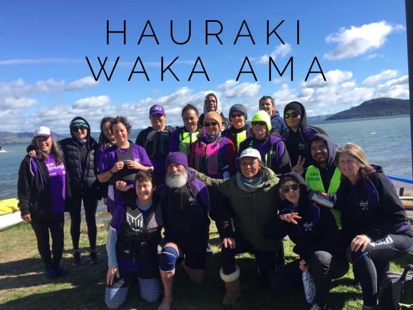 Hauraki Waka Ama competes in National Sprints