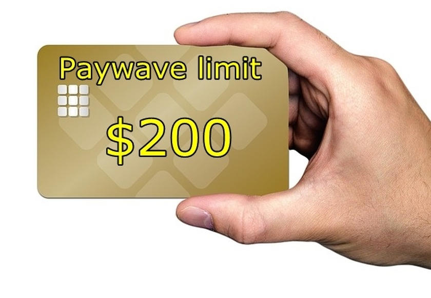 Contactless Paywave limit raised to $200