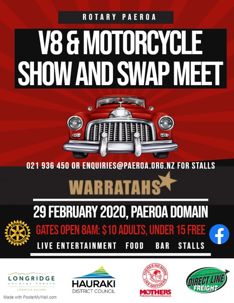 Paeroa V8 & Motorcycle Show revs up tomorrow!
