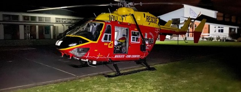 Manaia local airlifted to Waikato