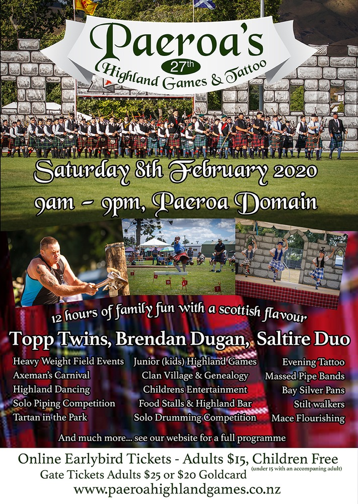 Get ready for a tartan fling in Paeroa this weekend!