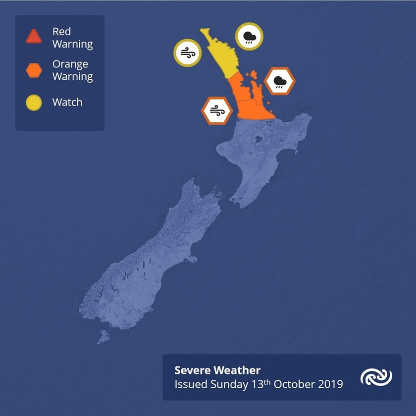 Rain and Strong Winds to Affect North Island