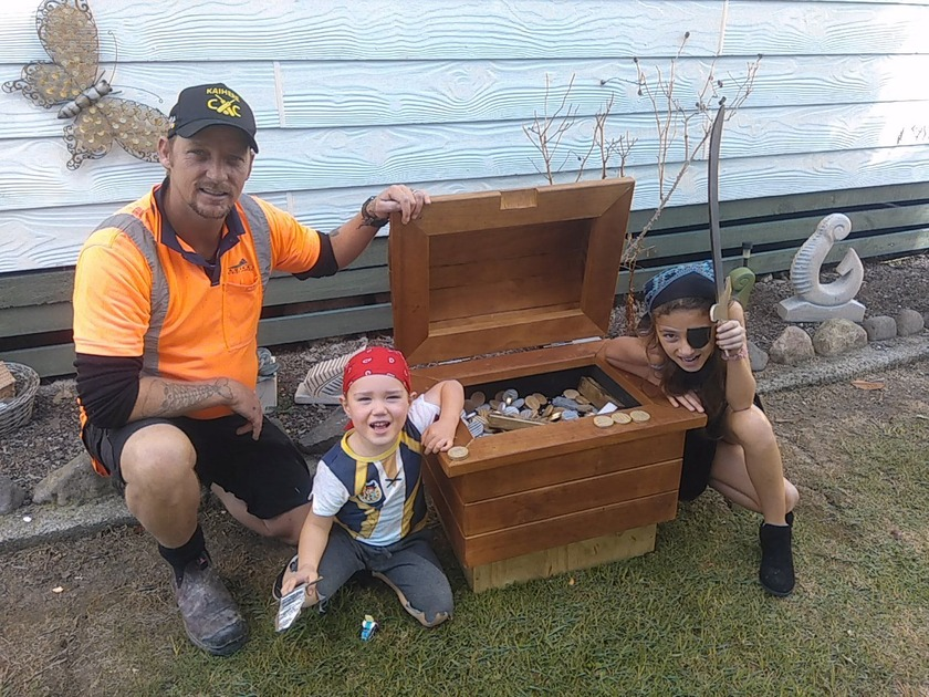 X marks the spot for a new treasure chest at Kaiaua's pirate themed playground