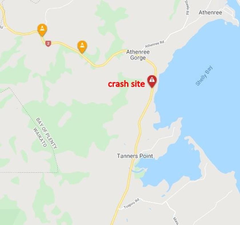 Crash - SH 2 Waihi to Katikati