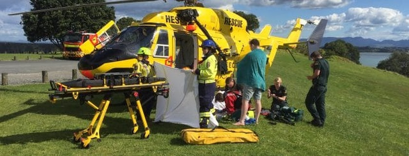 TECT Helicopter to the rescue at Bowentown