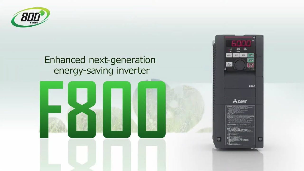Mitsubishi FR-F800 water industry inverters give better control