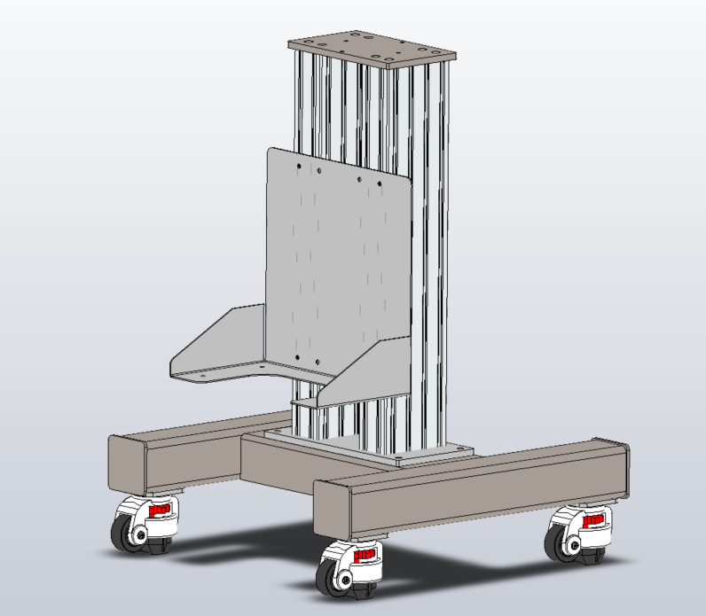 Bertelkamp Automation Designs Pedestal For Robot Portability