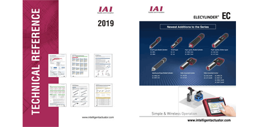 New IAI ELECYLINDER Models and Technical Reference PDFs