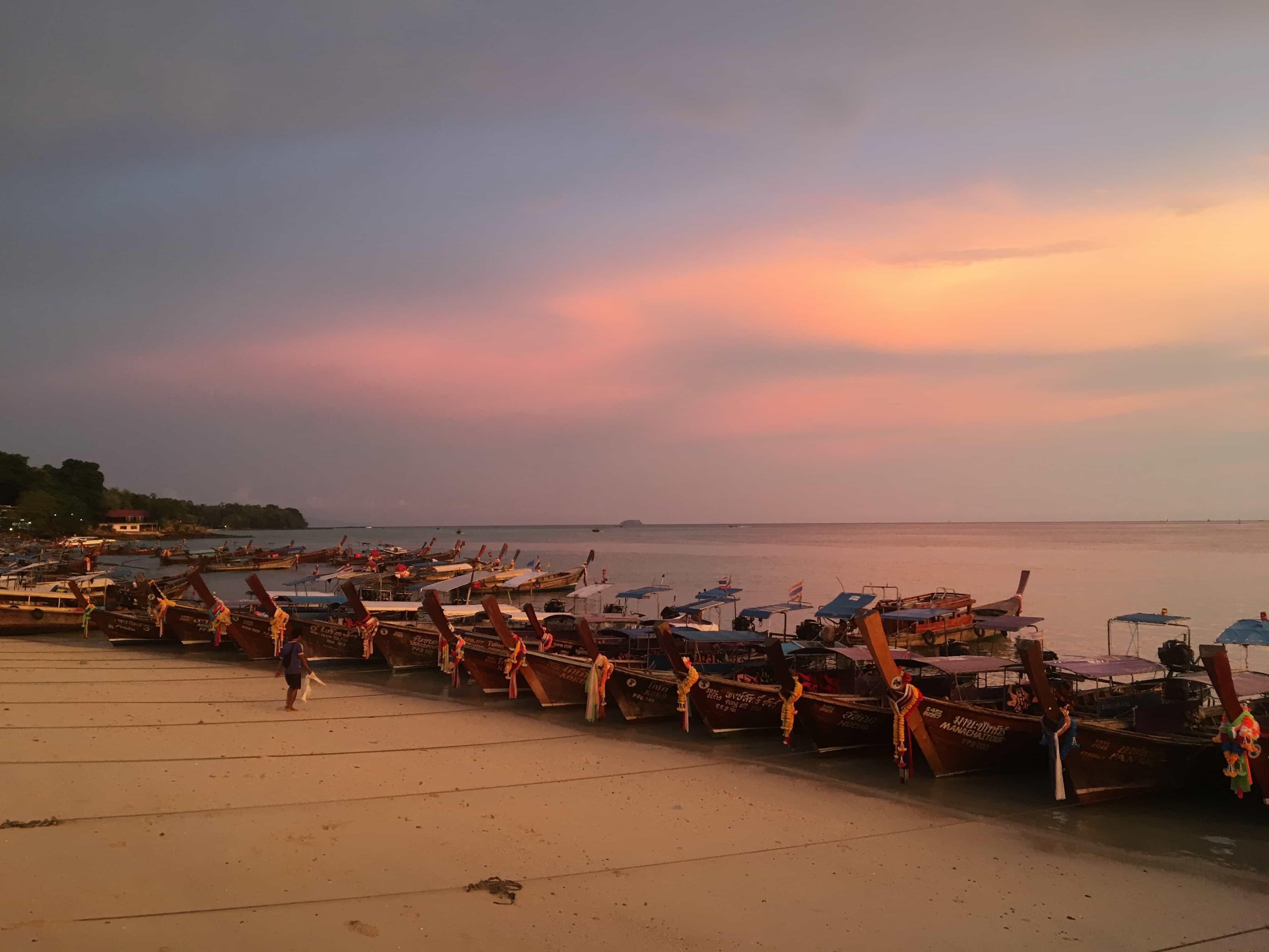 Beach sunset walk