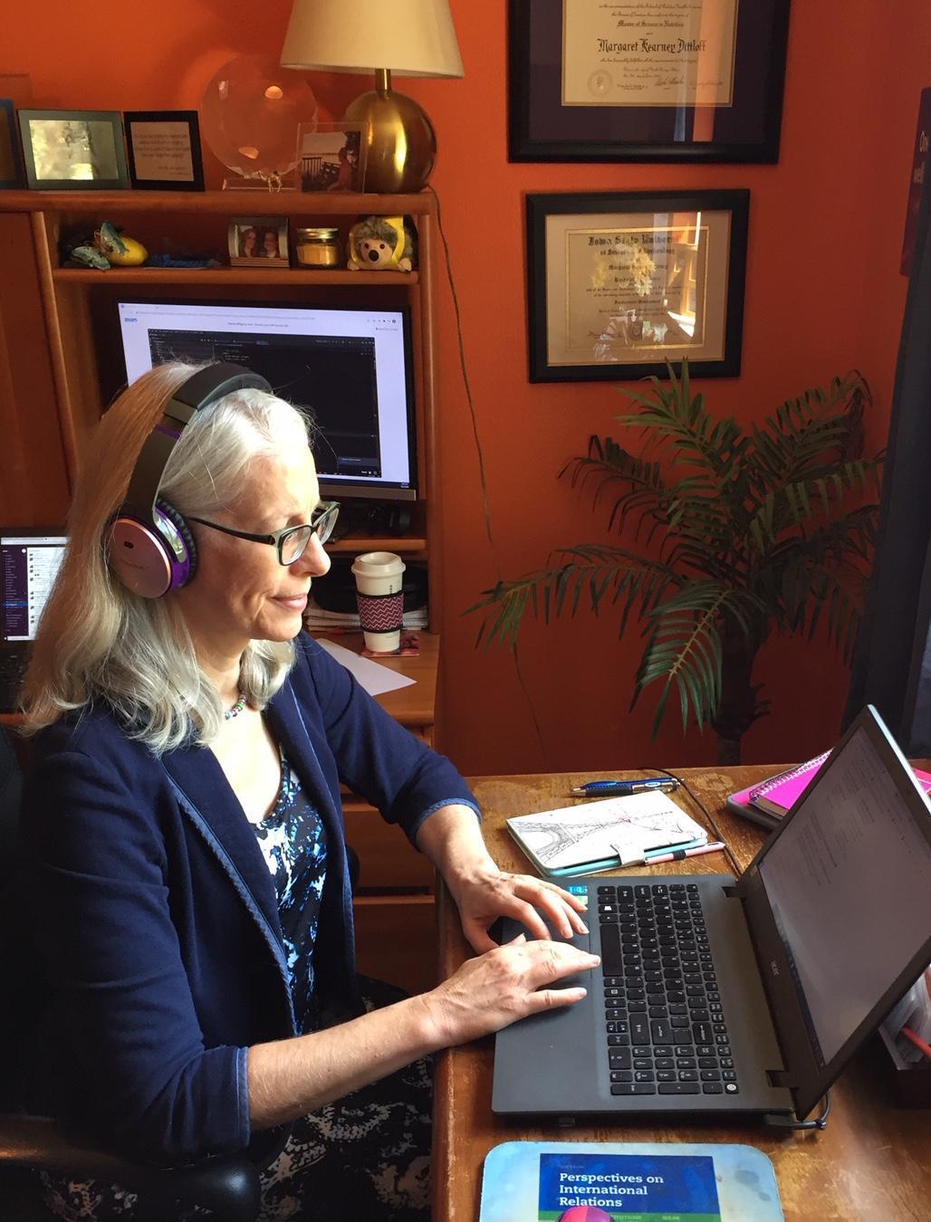 Margaret Working at Desk
