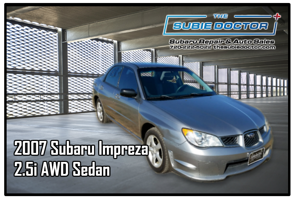 2007 Subaru Impreza 2.5i Sedan For Sale in Denver, CO