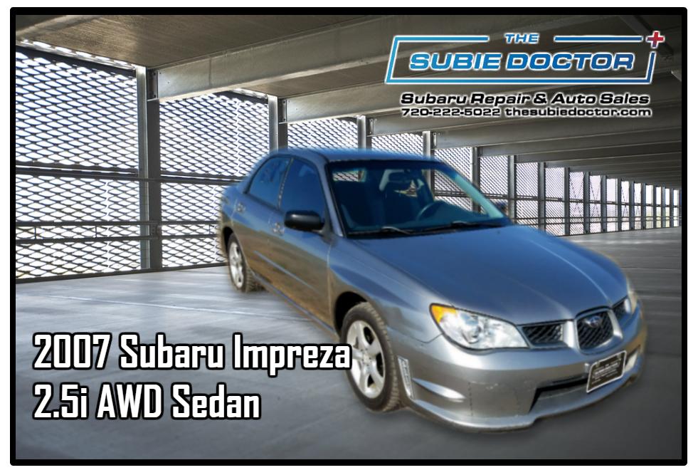 2007 Subaru Impreza 2.5i Sedan For Sale in Denver, CO