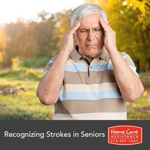 stoke symptoms in senior man