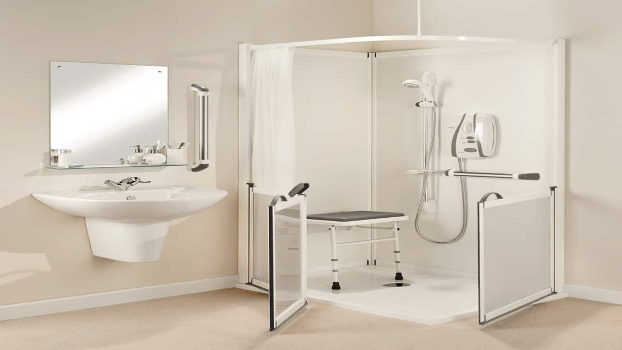 bathroom with adaptations for seniors with mobility problems