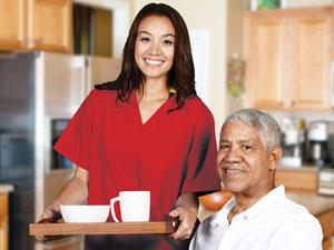 caregiver with african american client