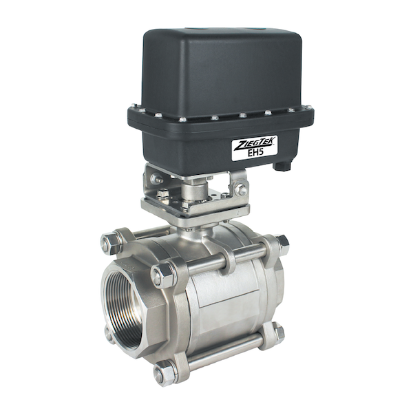 Stainless Steel 3-Piece, 2-Way Ball Valves