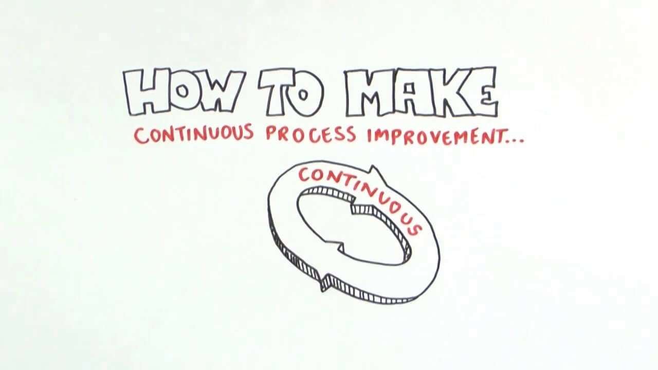 Click to see a video about making process improvement sustainable in a company