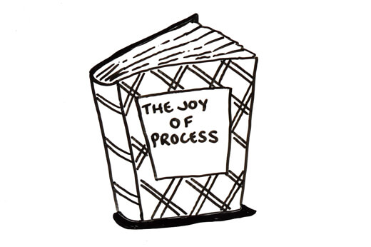 Book with title of Joy of Process