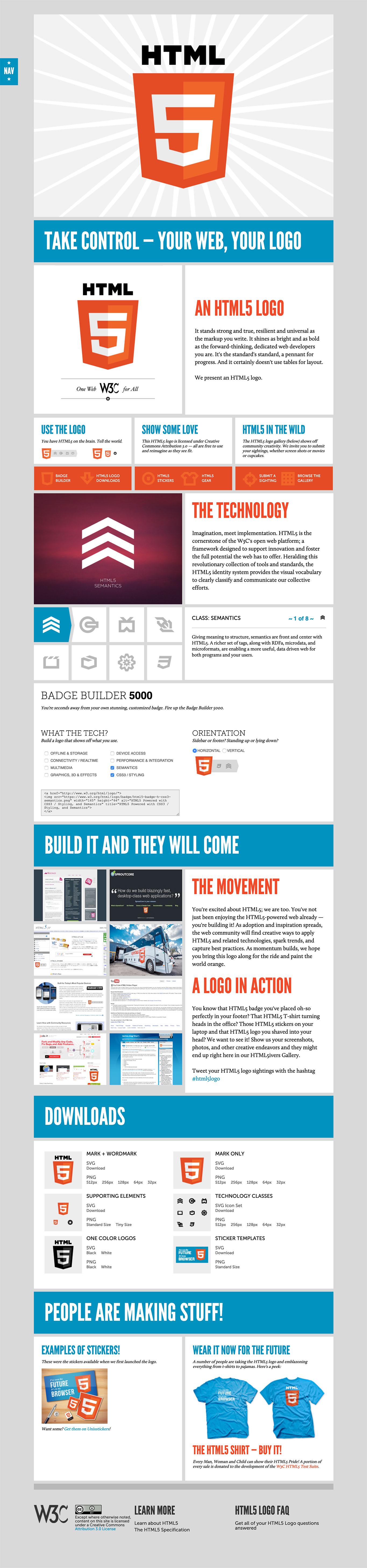 HTML 5 website image