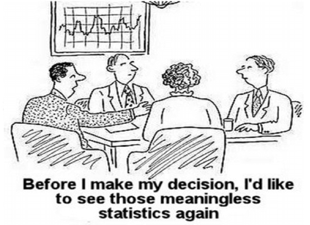 """satirical sketch """"before I make my decision, I'd like to see those meaningless statistics again"""""""