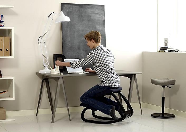 Taking Geektastic Code Challenge in kneely chair