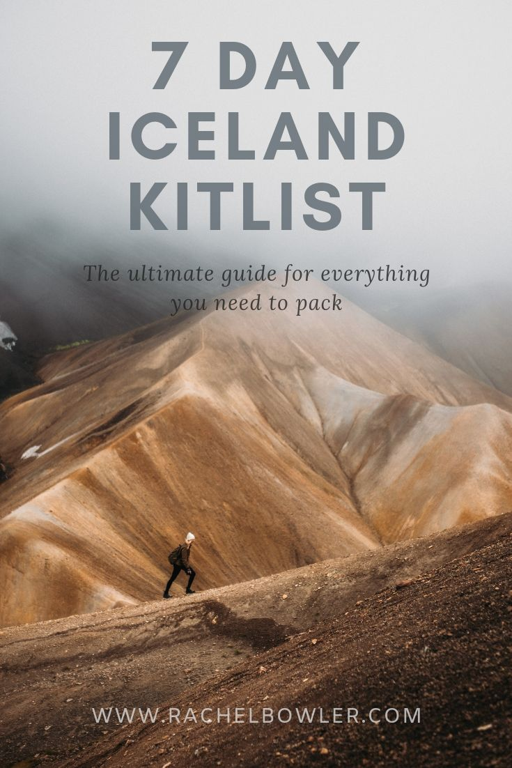 What to pack for Iceland by Rachel Bowler
