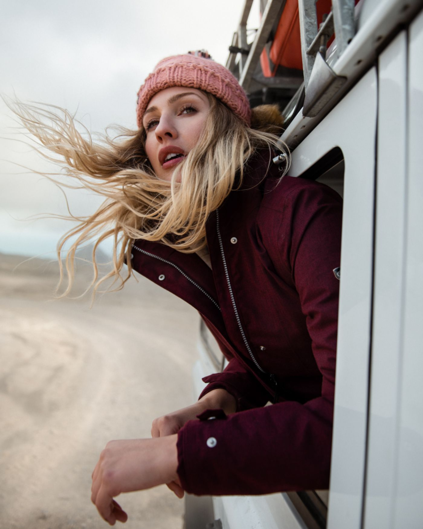 Rachel Bowler Model for Craghoppers AW19 Iceland