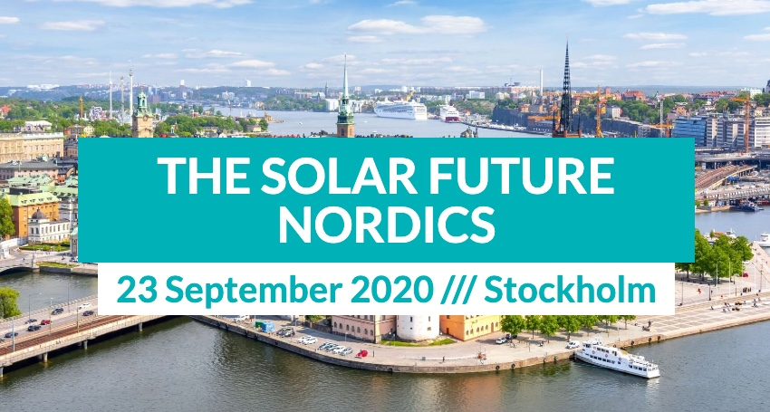 The Solar Future Nordics in Stockholm 23 September, 2020