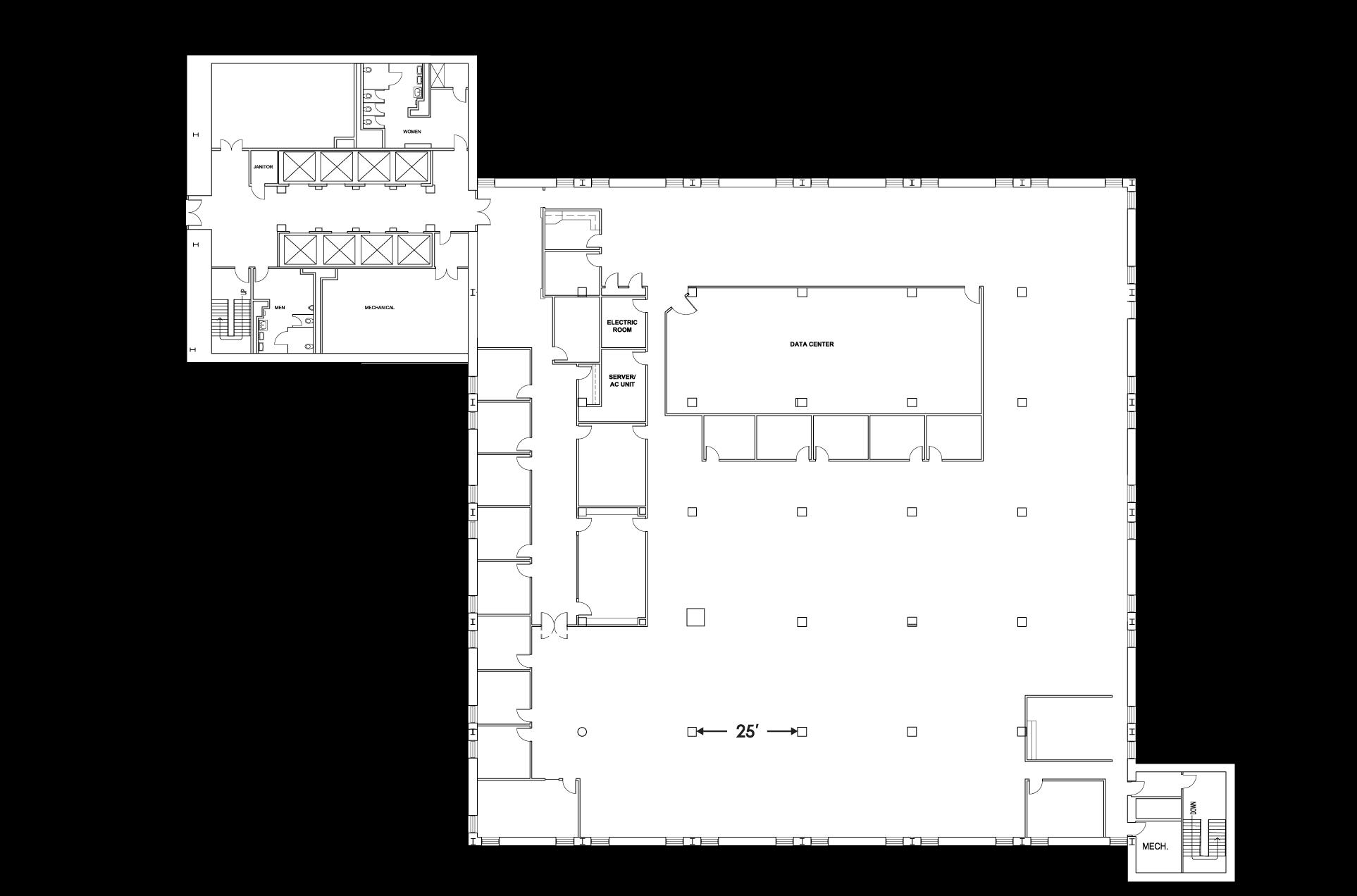 Tower 1 Floor 2 Floorplan Image