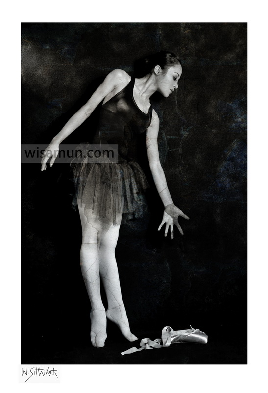 wisamun sitthiket - photography artwork - ballerinamidnight ballerinablack & whitewoman