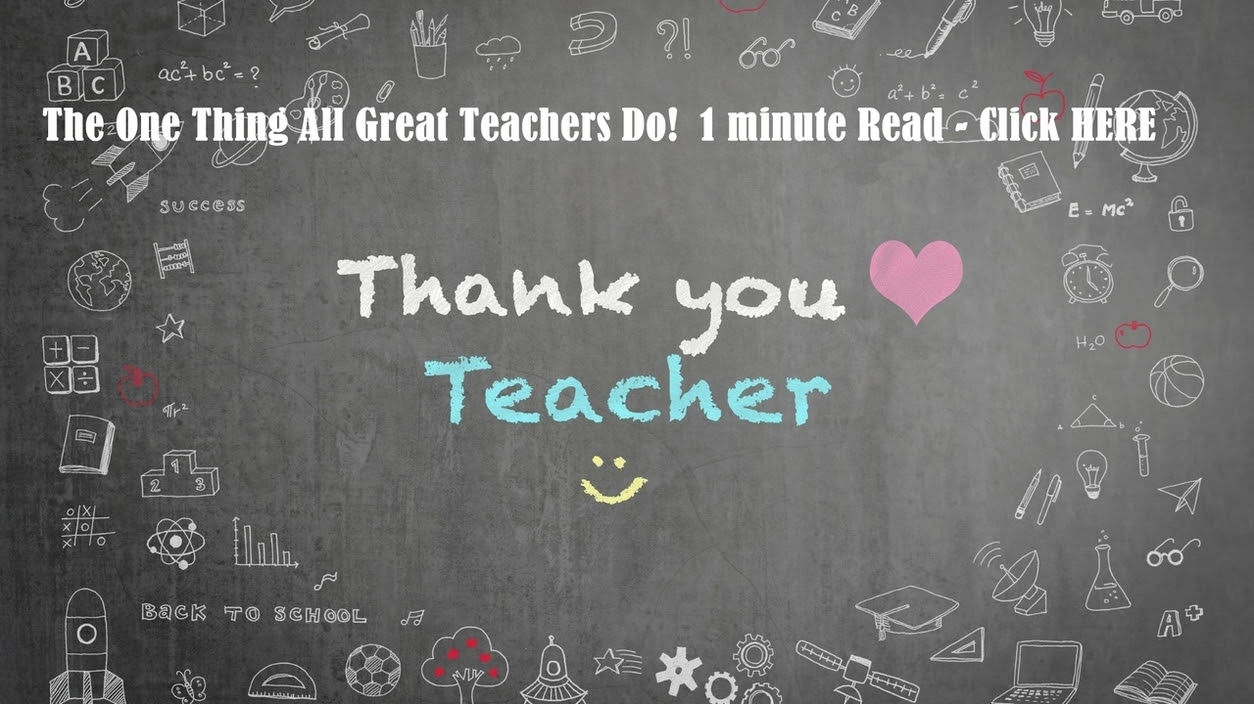 The One Thing All Great Teachers Do