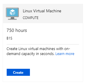 Azure B1S Free Linux