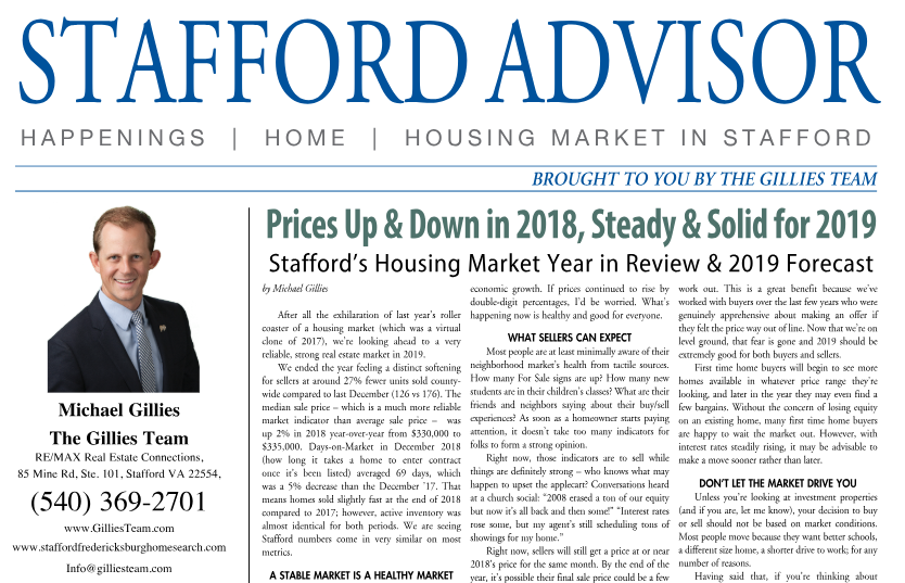 Prices Up & Down in 2018, Steady & Solid for 2019