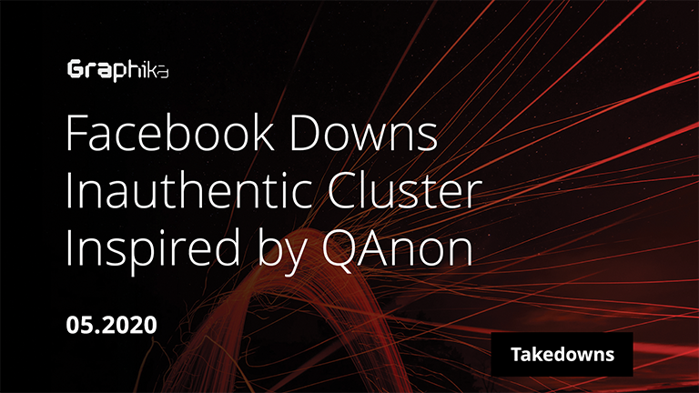 Facebook Downs Inauthentic Cluster Inspired by QAnon image