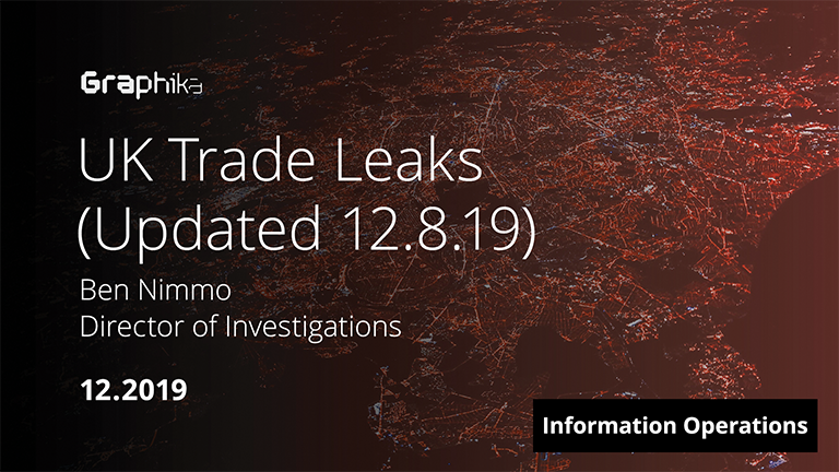 UK Trade Leaks - Updated 12.8.19 image