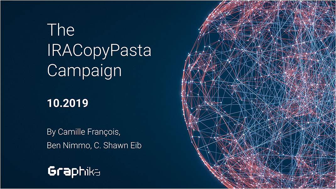 Graphika Report: The IRACopyPasta Campaign image