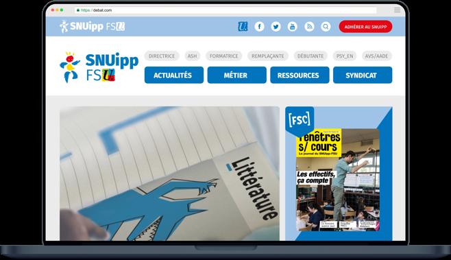 Capture d'écran SNUipp FSU