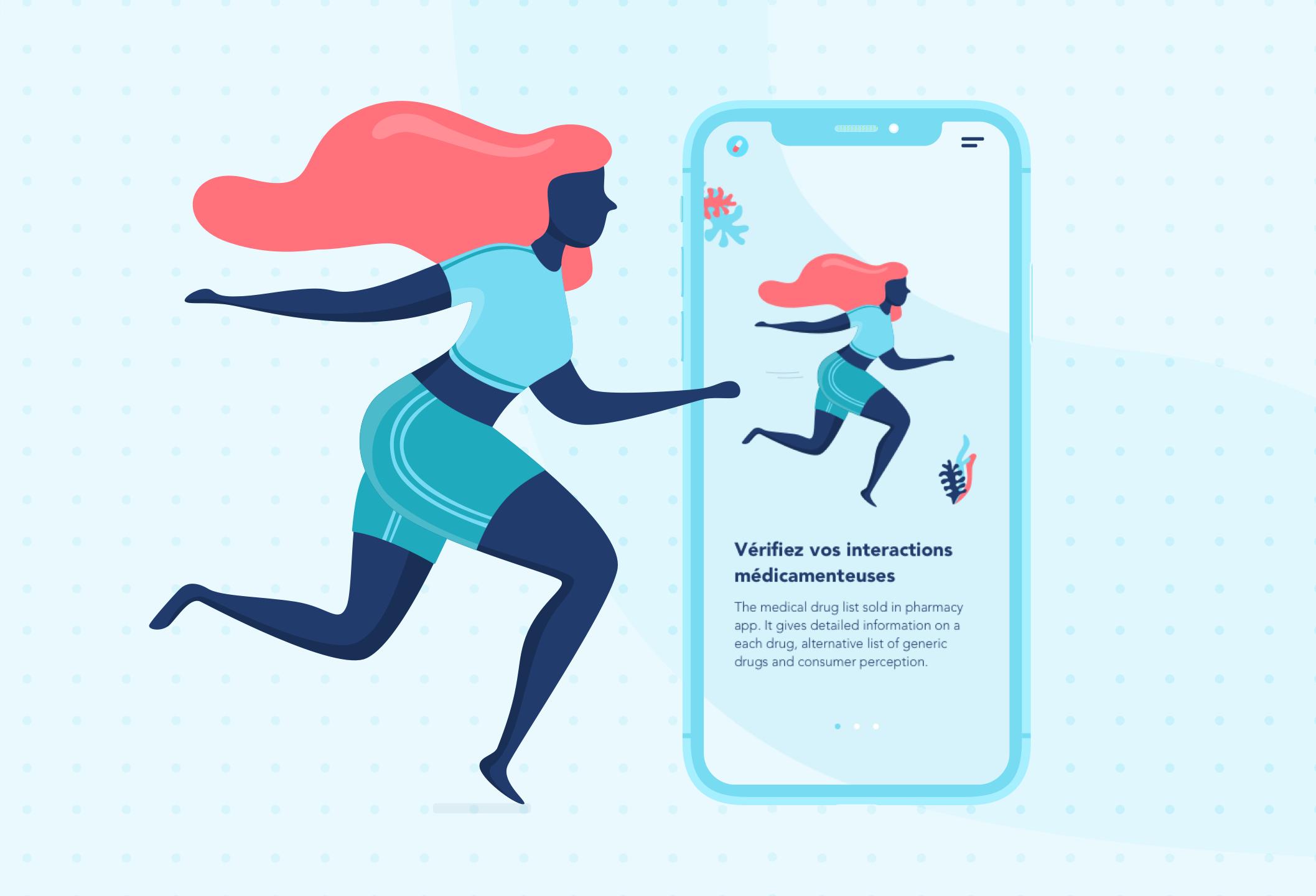 UX Design UI Design application mobile développement ios Android agence studio designer développeur santé medicamentum pharmacie