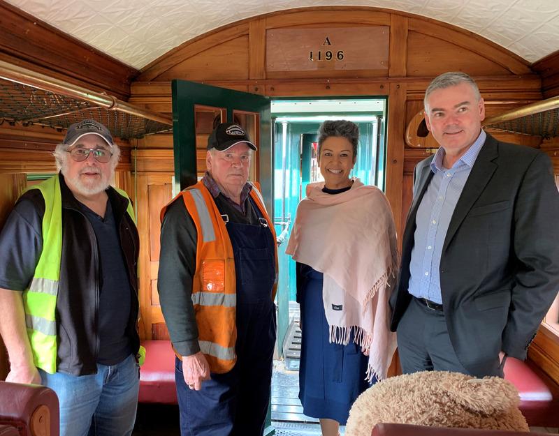 MPs Visit Railway