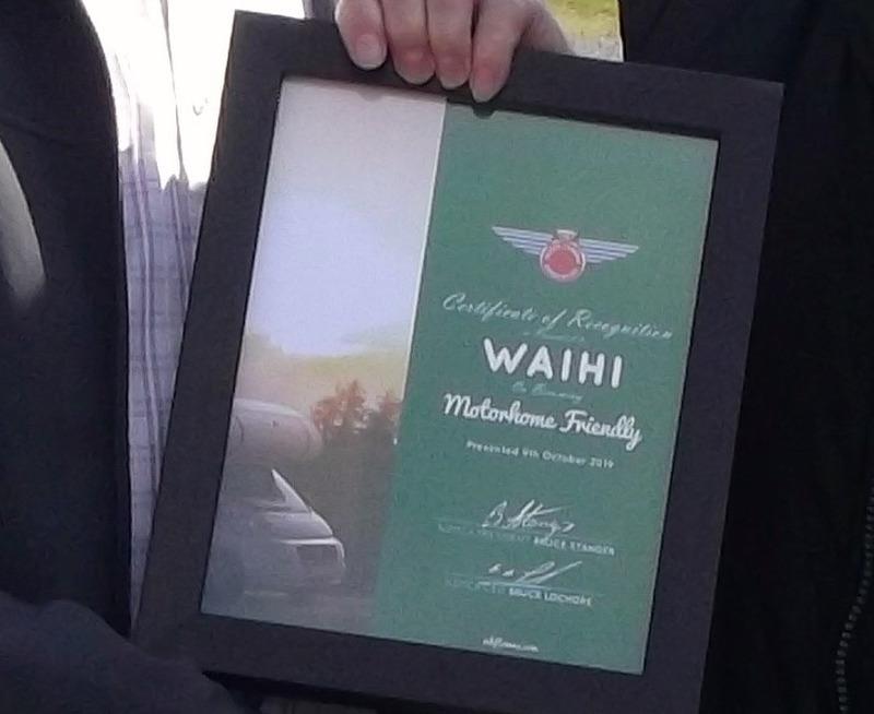 Waihi gains Motorhome-Friendly status