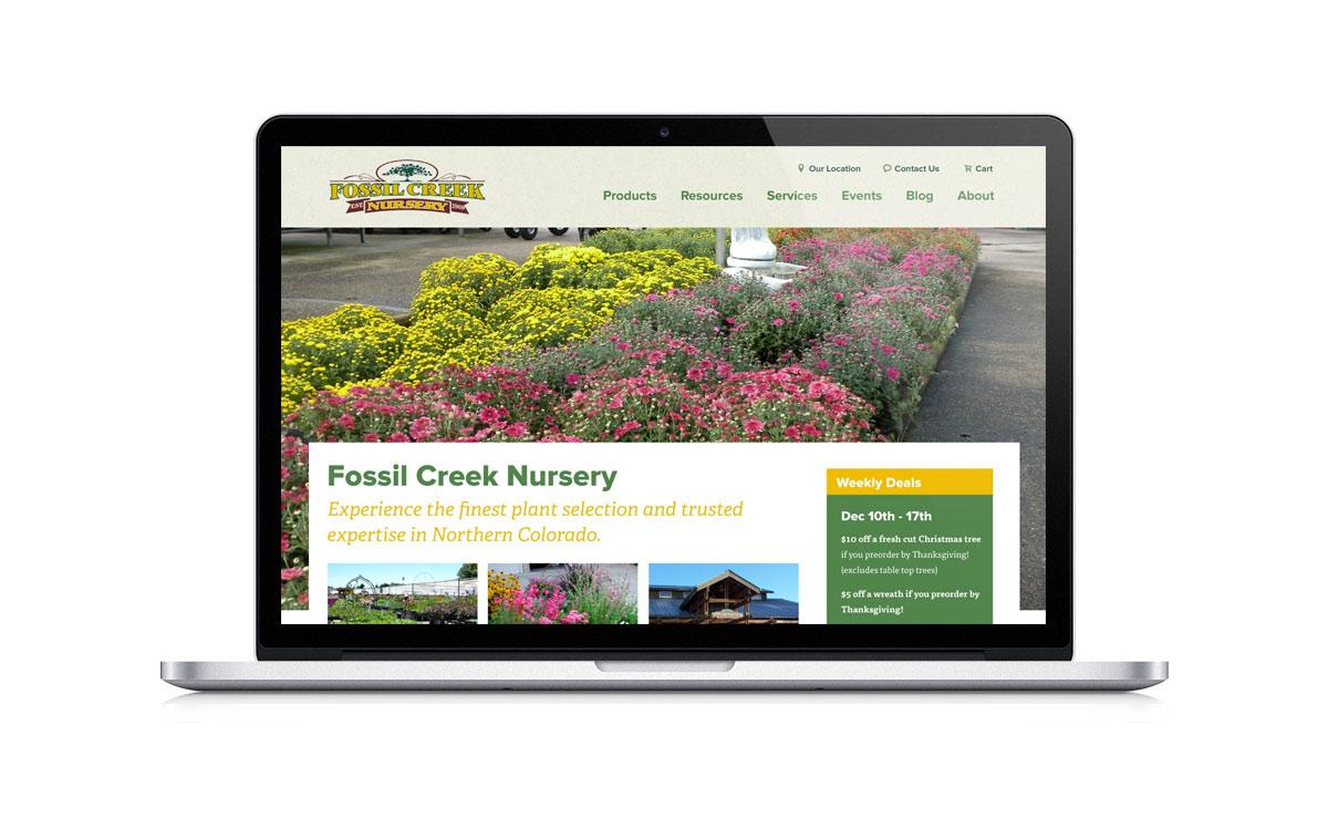 New Desktop Website Screenshot - Fossil Creek Nursery