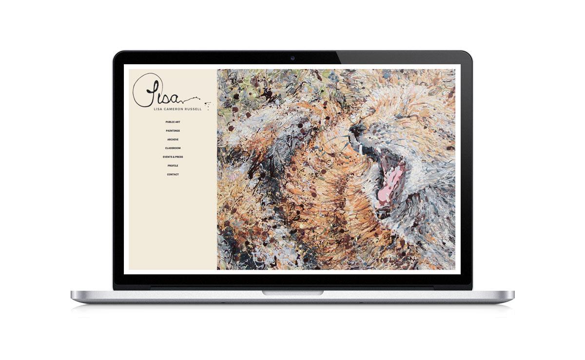 New Desktop Website Screenshot - Lisa Cameron Russell