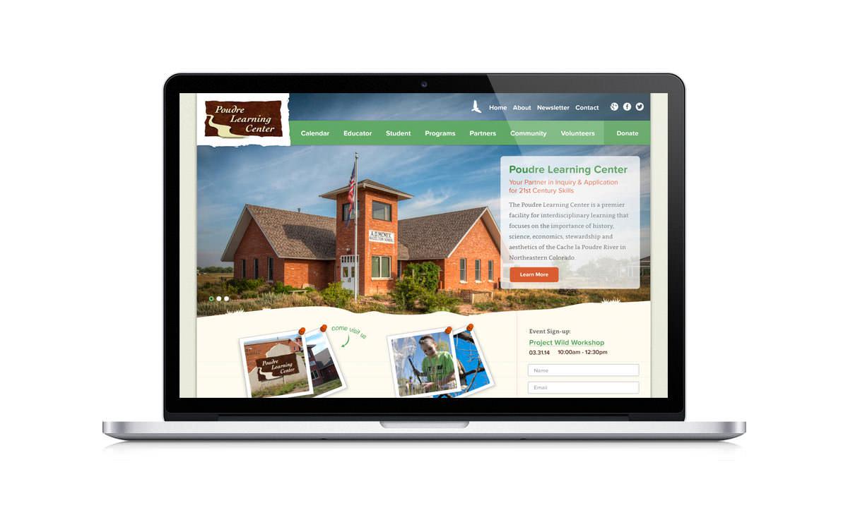 New Desktop Website Screenshot - Poudre Learning Center