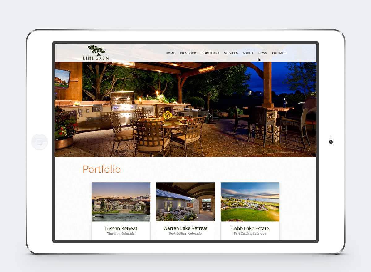 New Mobile Website Screenshots - Lindgren Landscape