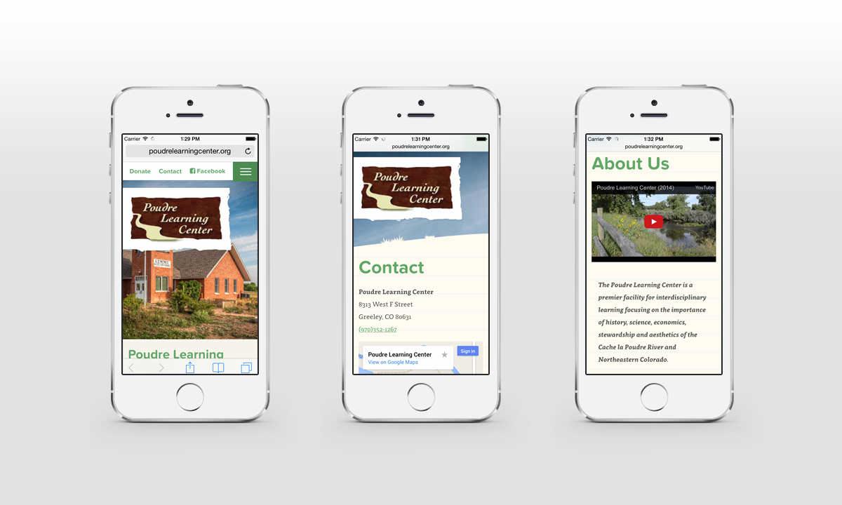 New Mobile Website Screenshots - Poudre Learning Center